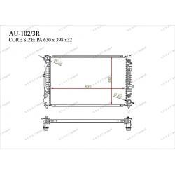 Радиатор основной Gerat AU-102/3R