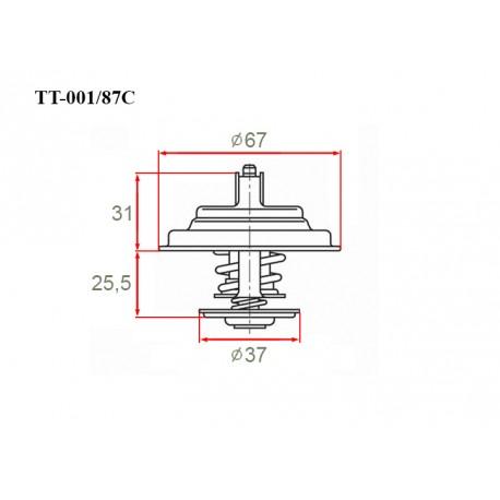 Термостат автомобильный Gerat TT-001/87C