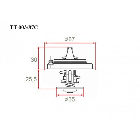 Термостат автомобильный Gerat TT-003/87C
