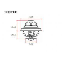 Термостат автомобильный Gerat TT-005/80C
