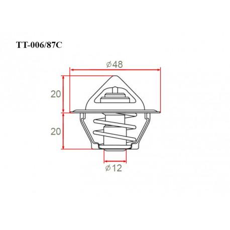 Термостат автомобильный Gerat TT-006/87C
