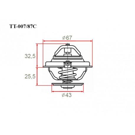 Термостат автомобильный Gerat TT-007/87C