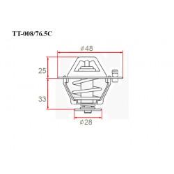 Термостат автомобильный Gerat TT-008/76.5C