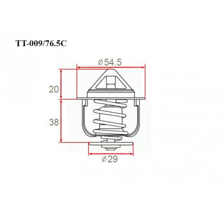 Термостат автомобильный Gerat TT-009/76.5C