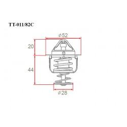 Термостат автомобильный Gerat TT-011/82C