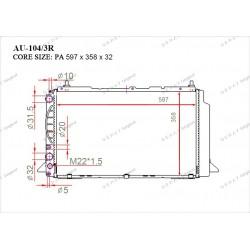 Радиатор основной Gerat AU-104/3R