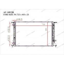 Радиатор основной Gerat AU-105/2R