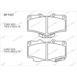 Тормозные колодки Great BP-F001