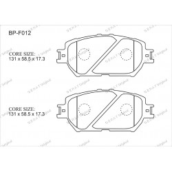 Тормозные колодки Great BP-F012
