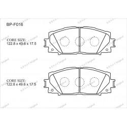 Тормозные колодки Great BP-F016