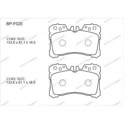 Тормозные колодки Great BP-F020