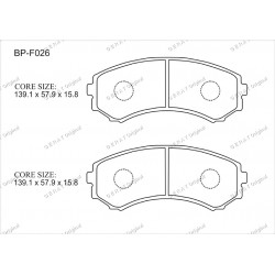 Тормозные колодки Great BP-F026
