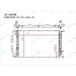 Радиатор основной Gerat AU-106/3R