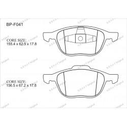 Тормозные колодки Great BP-F041