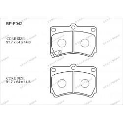 Тормозные колодки Great BP-F042
