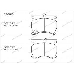 Тормозные колодки Great BP-F043