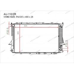 Радиатор основной Gerat AU-110/2R