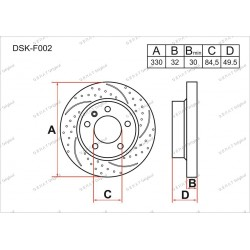 Тормозные диски Gerat DSK-F002