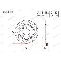 Тормозные диски Gerat DSK-F004