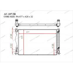 Радиатор основной Gerat AU-107/3R