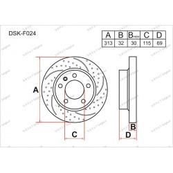 Тормозные диски Gerat DSK-F024