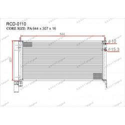 Радиатор кондиционера Gerat RCD-0110