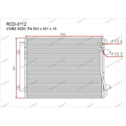 Радиатор кондиционера Gerat RCD-0112